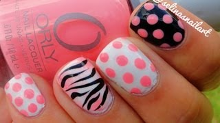 Polka Dot & Zebra Print Nail Art Tutorial