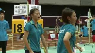 第 66 回 全日本学生バドミントン選手権大会 3コート 女子ダブルス ベ...