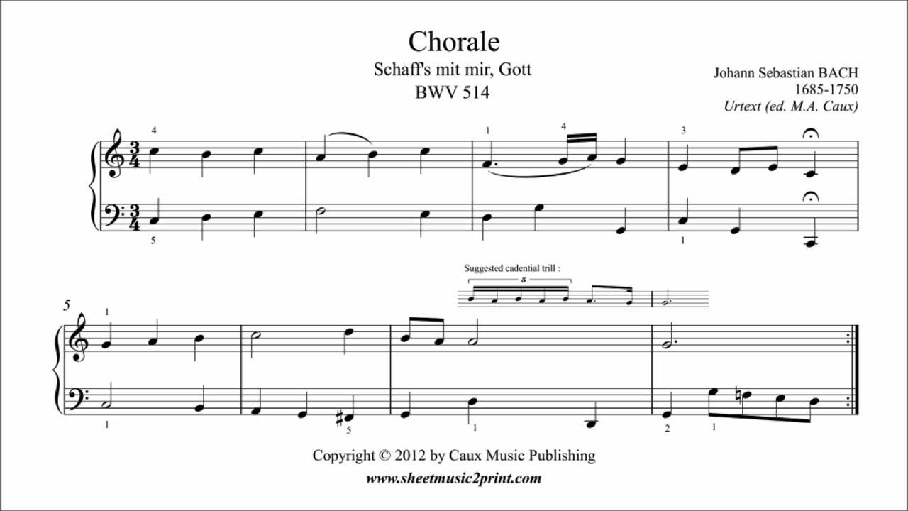 Bach : Chorale BWV 514 - Schaff's mit mir, Gott - YouTube