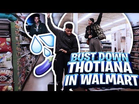 "BLASTING Blue Face ""Thotiana"" in WALMART! (SPEAKER CHALLENGE)"