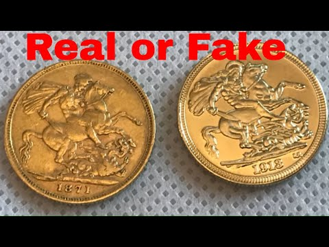 How Can you Tell if A Gold Sovereign Is Real - Beginners Guide