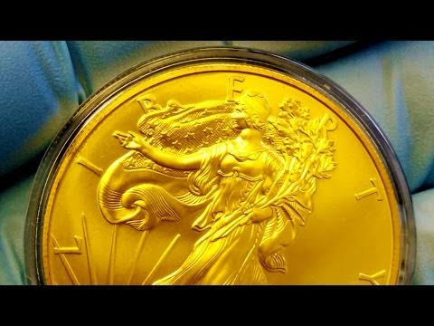 Gold Plated Silver Eagle