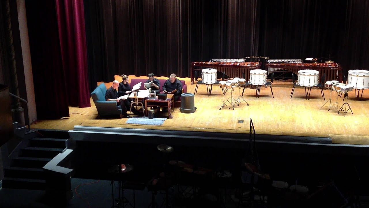EKU Percussion Ensemble 2014 Performing Living Room Music (1940) By John  Cage Part 38