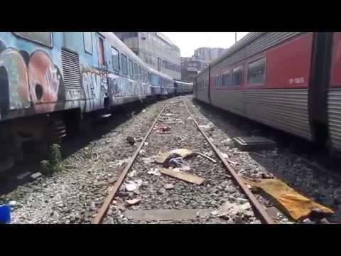 Los trenes abandonados en Abando