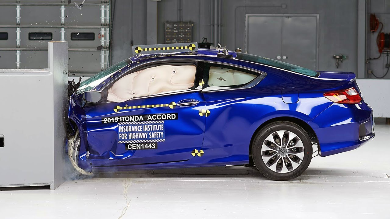 Superb 2015 Honda Accord 2 Door Coupe Driver Side Small Overlap IIHS Crash Test    YouTube