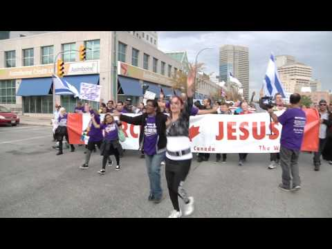 March for Jesus Winnipeg 2016 and celebration