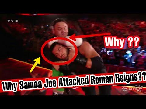 Why Samoa Joe Attacked Roman Reigns ?? WWE RAW 27 November 2017 !!! thumbnail