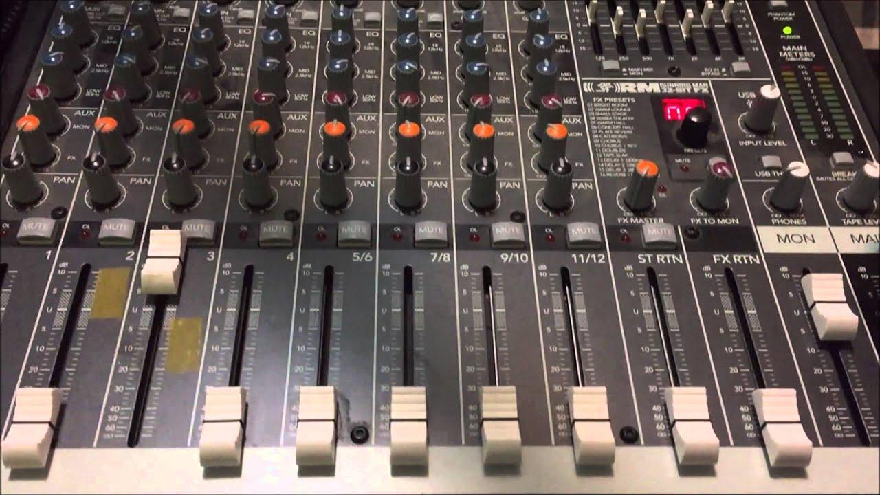 How To Setup Audio Ducking On Mackie Profx Mixer Youtube Profx8 V2