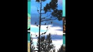 Como pintar un cuadro de paisaje - Pinturas acrilicas Eterna - Ana Gjurinovich