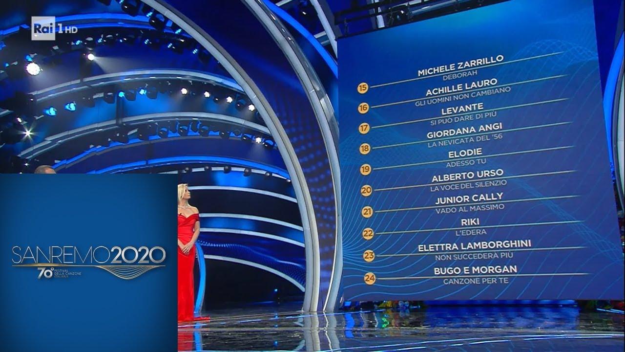 Sanremo 2020 - La classifica finale della terza serata - YouTube