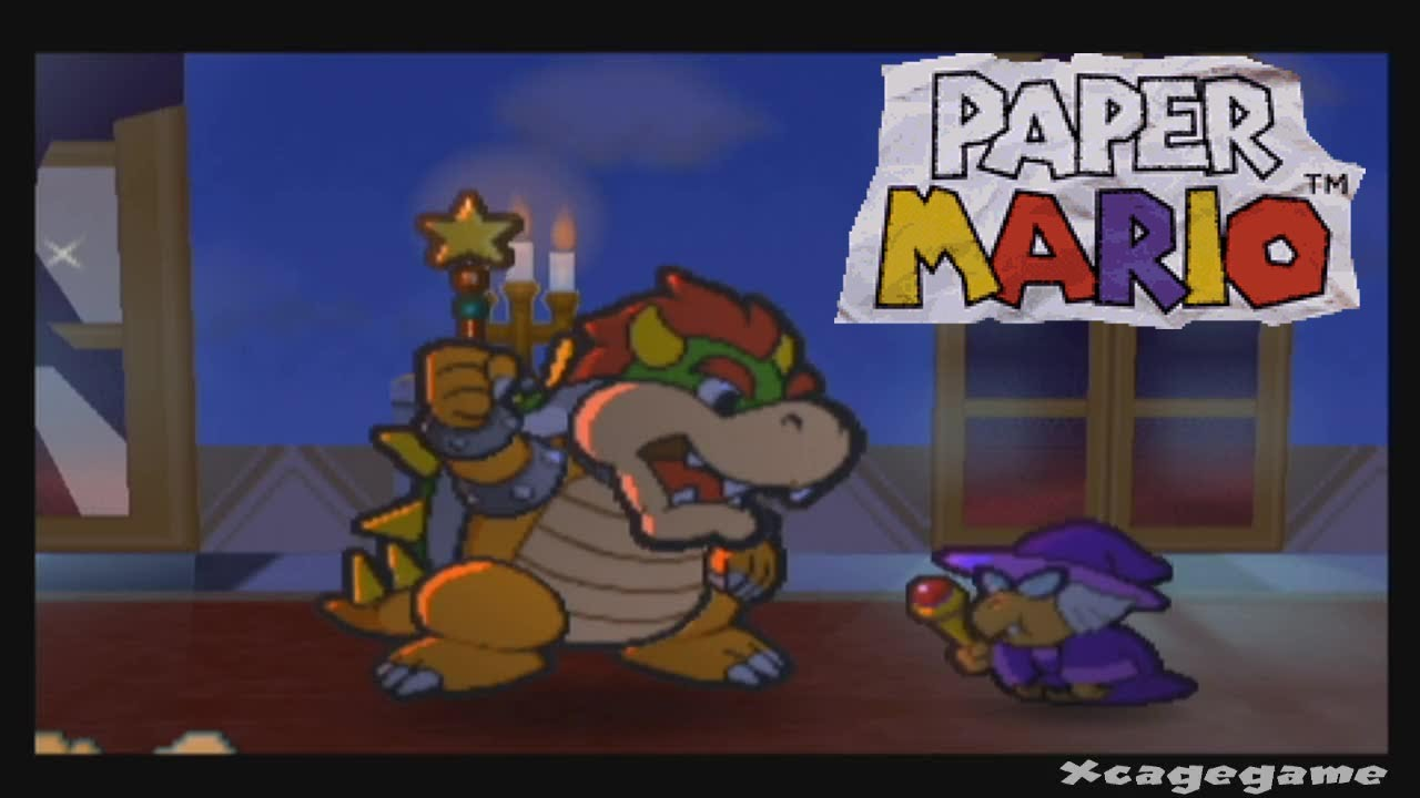paper mario wii u virtual console gameplay first 35 minutes hd