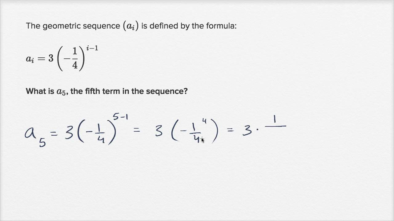Using Explicit Formulas Of Geometric Sequences | Mathematics I | High  School Math | Khan Academy