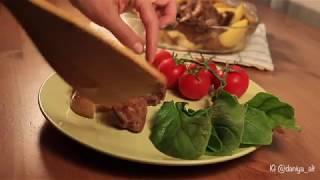 Говяжьи ребрышки барбекю в духовке | Простой рецепт ребрышек с картошкой