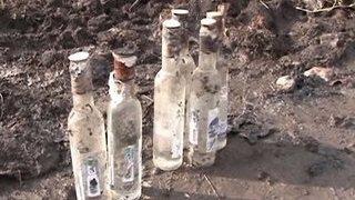 В Саратовской области перевернулся грузовик с водкой