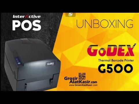 Unboxing, Pemasangan, Instalasi, dan Desain Label Barcode Printer GoDex G500