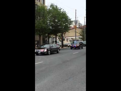 The motorcade for Beau Biden