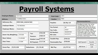 ... , see links below for completed tutorial how to create payroll systems in excel using vba - full