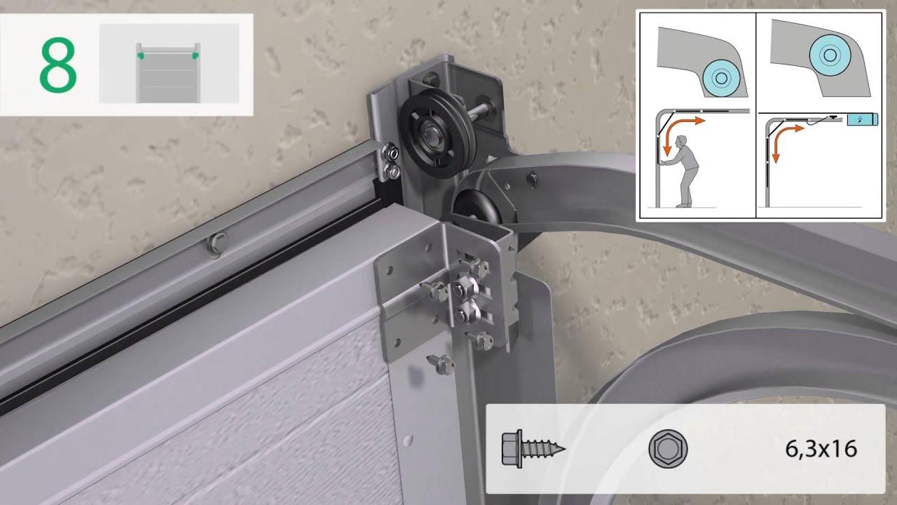 Instructions De Montage Pour Portes De Garage Sectionnelles Standard Youtube