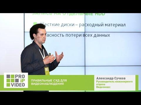 Правильные СХД для видеонаблюдения.  Александр Сучков, Видеомакс, PROIPvideo2019