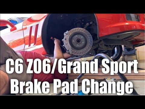 C6 Z06/Grand Sport Brake Pad Change