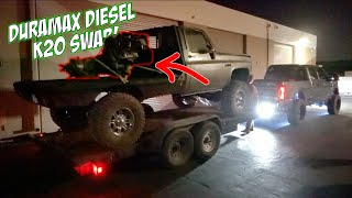 THE DIESEL k20 SWAP BEGINS! (PART 1)