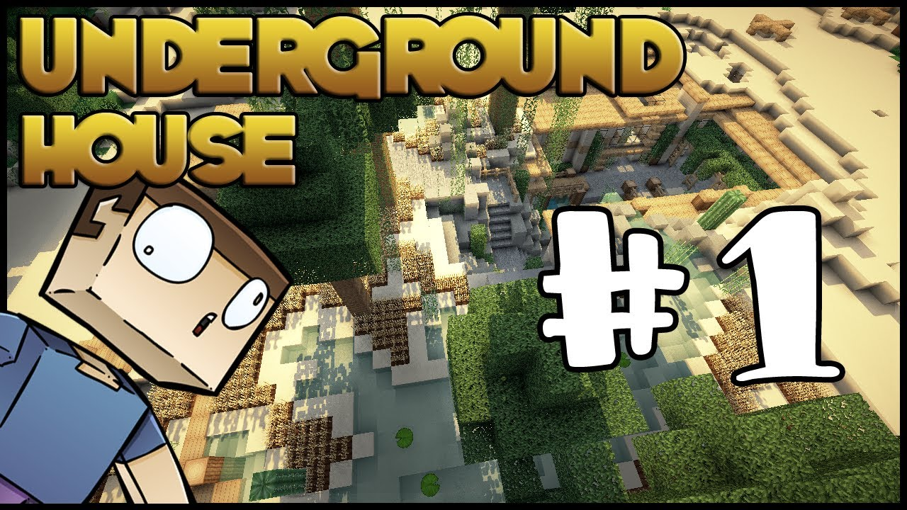 Subterranean House Minecraft Lets Build Hd Underground House Part 1 Youtube