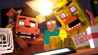 (Chica ve daha fazlası)Freddy (FNAF) 5 Gece - Minecraft Animasyon!