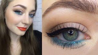 Яркий весенний макияж 2017 / акцент на нижнем веке / яркие губы: видео-урок
