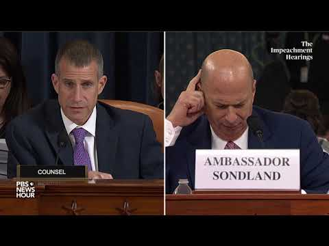 WATCH: Sondland says Pompeo gave 'green light' to tell Zelensky about link to investigations and aid