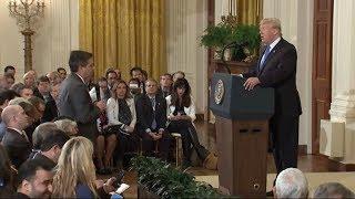 SCHLAGABTAUSCH: Bei CNN-Reporter Acosta platzt Trump der Kragen