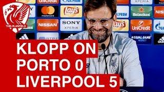 Porto 0-5 Liverpool   Jurgen Klopp Post-Match Press Conference