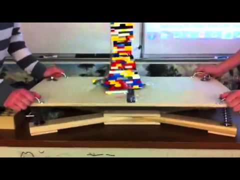 Earthquake Shake Table Lab-Group 1 - YouTube