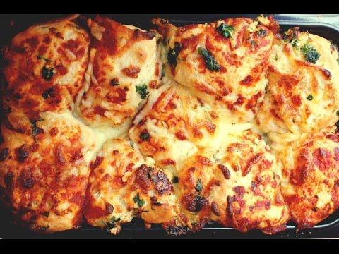 Pull-Apart Garlic Pizza Bread - Treat Factory