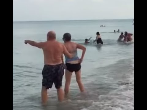 Manny's - Watch People Scatter When Shark Shows Up on Hollywood Beach