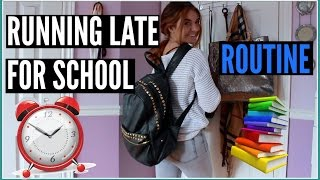 Running Late For SCHOOL Morning Routine:Hair, Makeup + Outfit IDEA