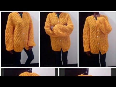 Tuto Tricot Gilet Veste Tricot Pour Femme Au Tricot Taille 45 50 52 Partie 01 Youtube