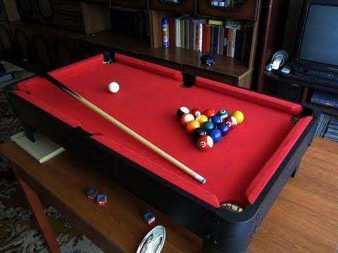 Играем в мини-бильярд дома - 1 (Play mini pool table at home)