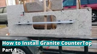 How to Install Granite CounterTop -  Part 1 -  Removing Old Counter and set a new granite Counter