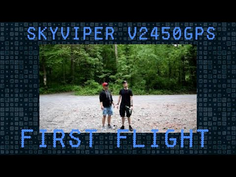 Our first flight of the Skyviper V2540GPS drone with FPV