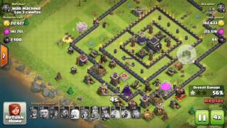 Clash of Clans | New- July 2016| The best anti 3 star trophy pushing/ war base layout Replays!