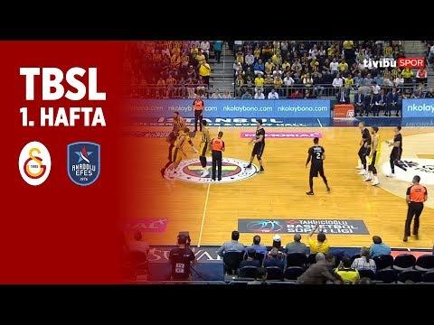 BSL 1. Hafta Özet | Galatasaray 70-73  Anadolu Efes