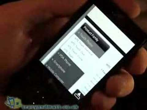 HTC Touch Diamond in action
