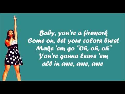 Glee - Firework (lyrics)