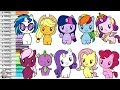 My Little Pony Cutie Mark Crew Coloring Book Compilation Mane 6 DJ Pon Princess Cadance and More