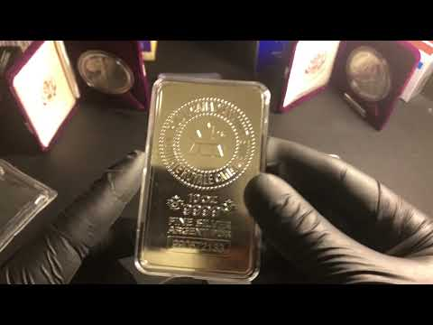 Silver Stacking 10oz Royal Canadian Mint Bar Review