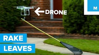 Can a Drone Rake Leaves?