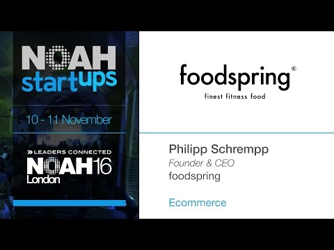 foodspring - NOAH16 London Startup Competition - YouTube