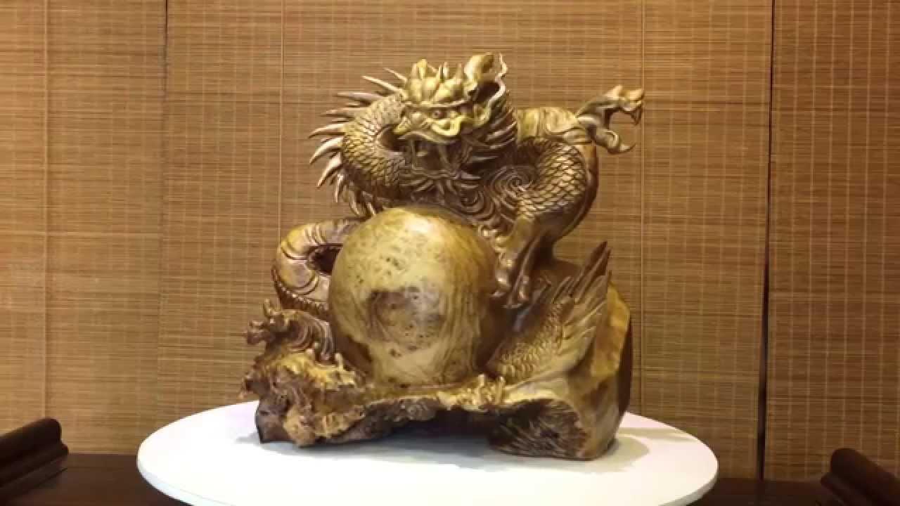 壹竹林 桃園店 黃金樟木瘤龍 - YouTube