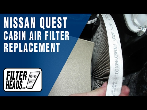 How To Replace Cabin Air Filter Nissan Quest 2011-2016