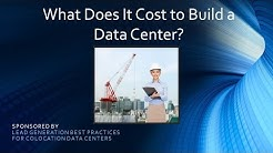 What Does It Cost to Build a Data Center? (Screencast)